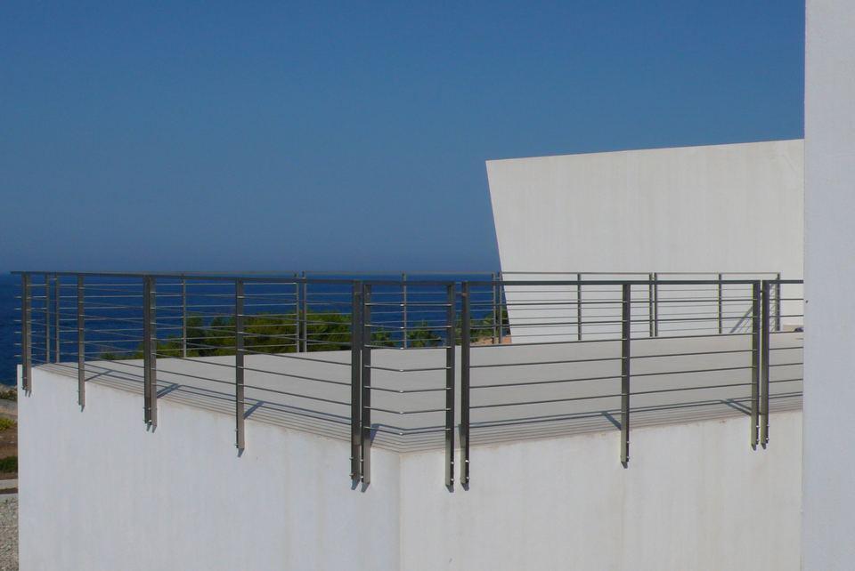 Eccezionale Ringhiere in ferro battuto, acciaio e vetro, classiche e moderne  FL75